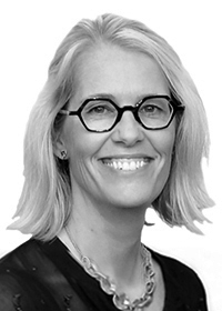 Black and white picture of Whitney Ames, General Counsel